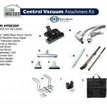 Clean Obsessed Central Vacuum Attachment Kit